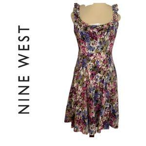 Nine West Floral Fit & Flare Dress.  Size 6